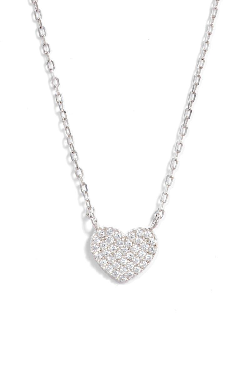 Pavé Heart Pendant Necklace