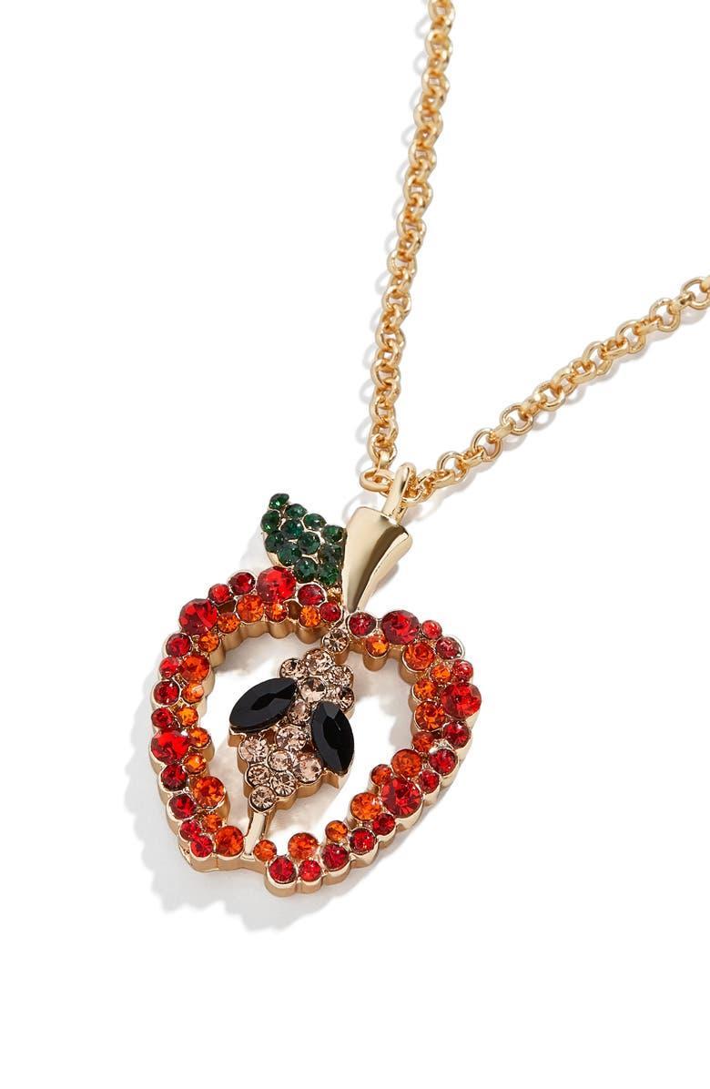 Juicy Crystal Apple Pendant Necklace