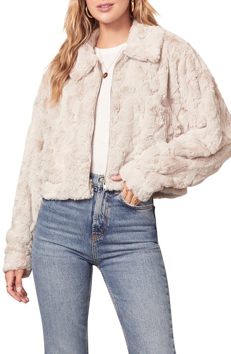 Just Fuzz Faux Fur Crop Jacket