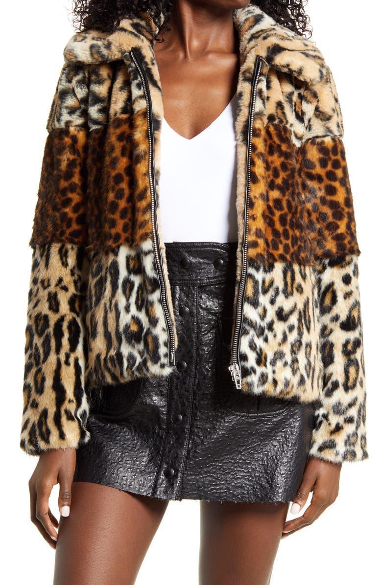 Animal Print Faux Fur Jacket