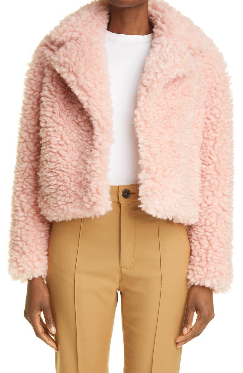 Janet Crop Faux Shearling Jacket