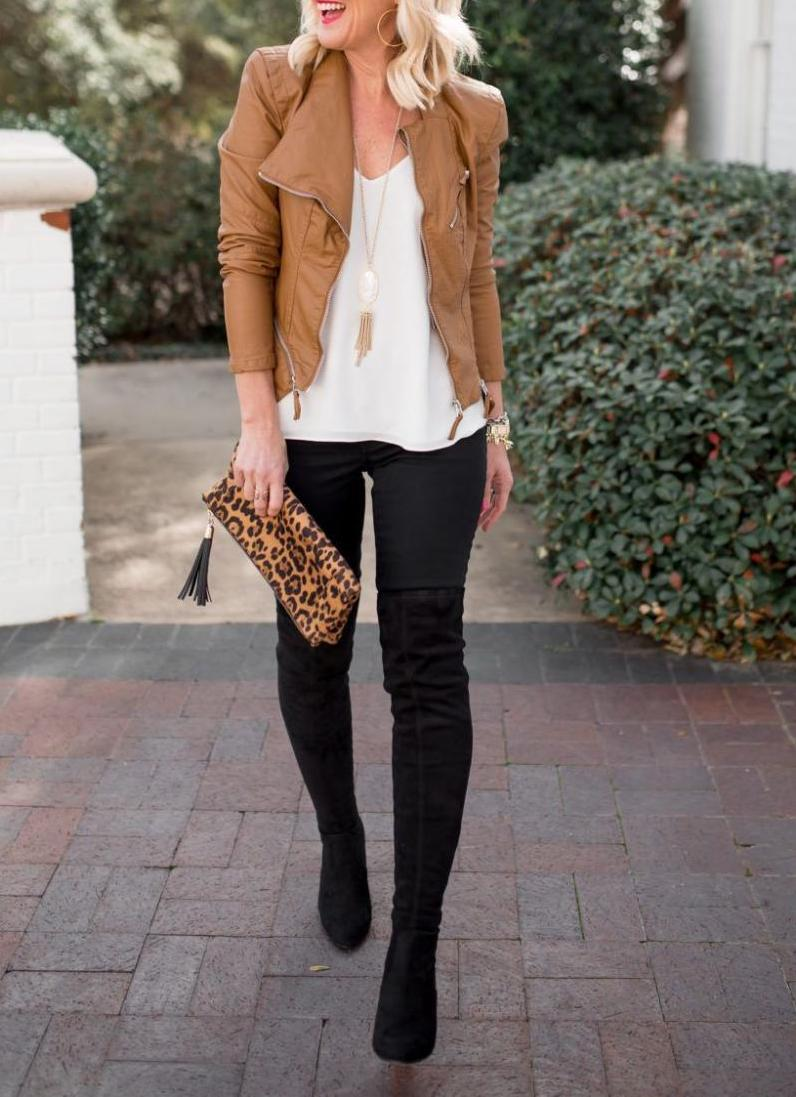 Bright spring business-casual look for active women
