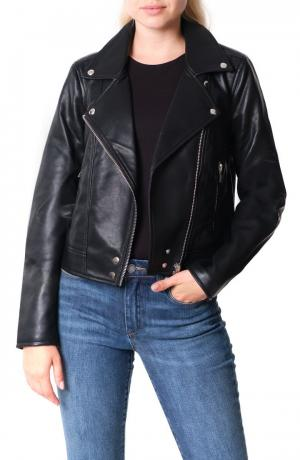 Good Vibes Faux Leather Moto Jacket