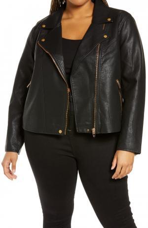 Lifechanger Faux Leather Moto Jacket