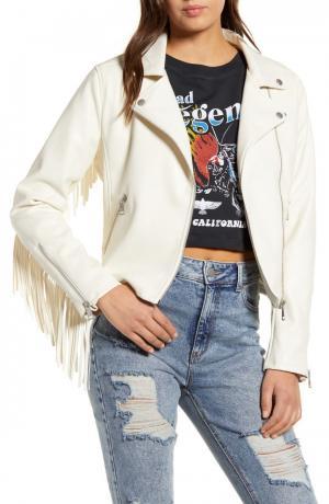 Fringe Faux Leather Moto Jacket