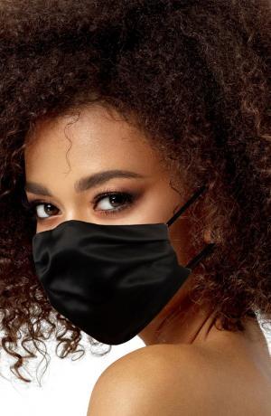Black Satin Adult Face Mask