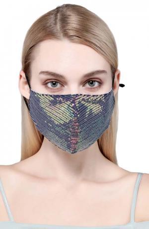 Stella Sequin Adult Cotton Face Mask