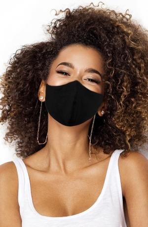 Adult Cotton Knit Face Mask with Figaro Chain Holder