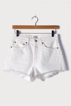 Parker White High-Waisted Cutoff Denim Shorts