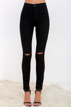 Practice Makes Perfect Black High-Waisted Skinny Jeans